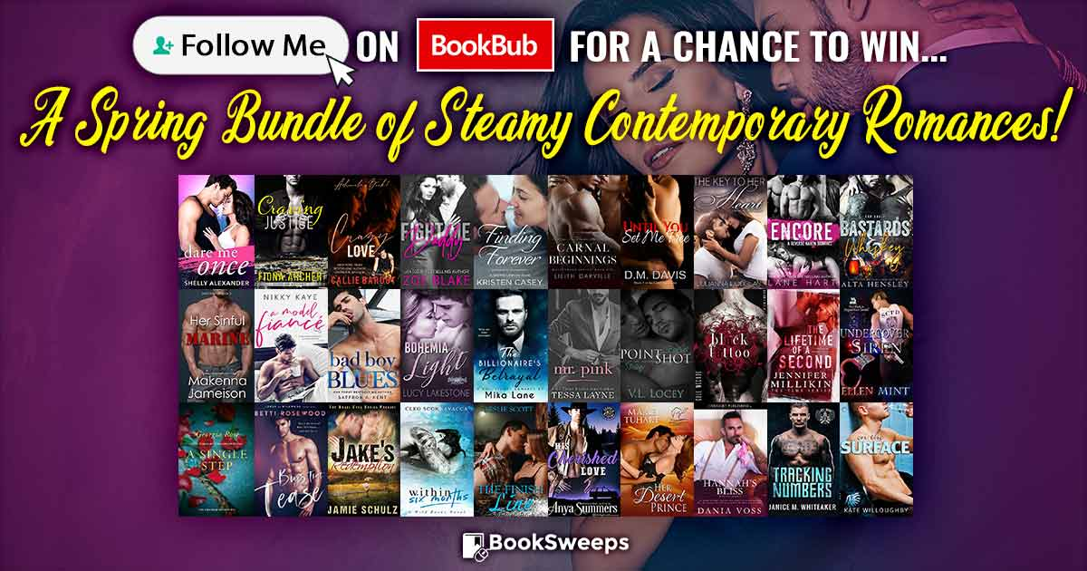 Booksweeps Steamy Contemporary Romance Giveaway